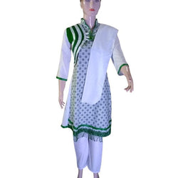 Mini Dupatta  With Pajama 14 August Frock