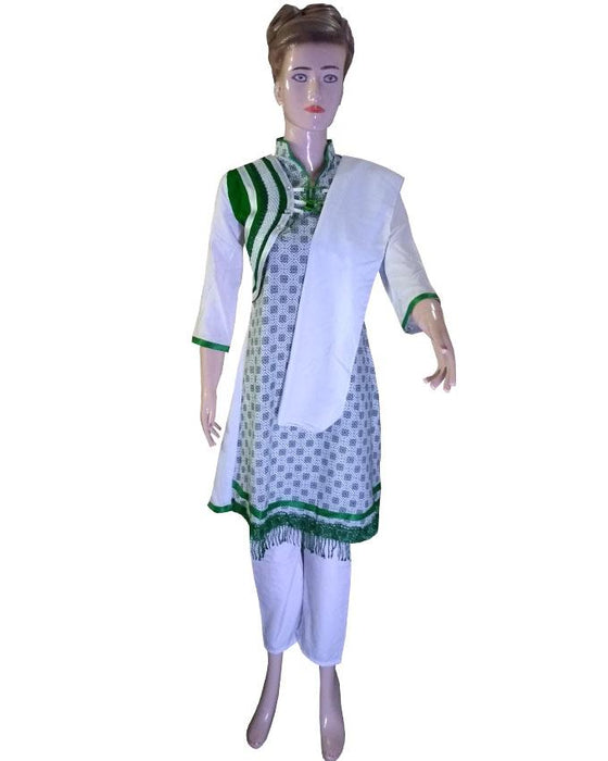 Mini Dupatta With Pajama 14 August Frock - Hiffey