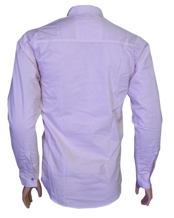 Baby Pink Long Sleeves Casual Shirt