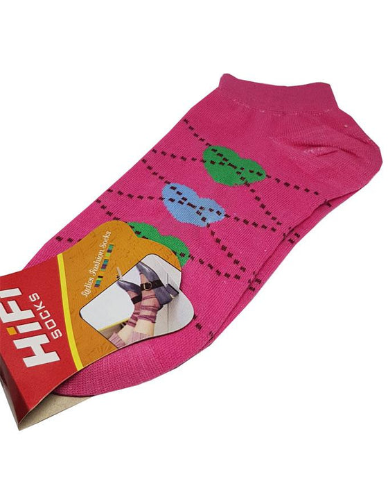 Comfortable Ladies Ankle Socks - Pink - Hiffey