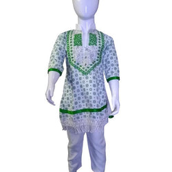 Front Embroidery Baby designs Frock With Pajama For 14 August
