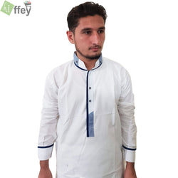 Off White Shalwar Kameez WW-001 - Hiffey
