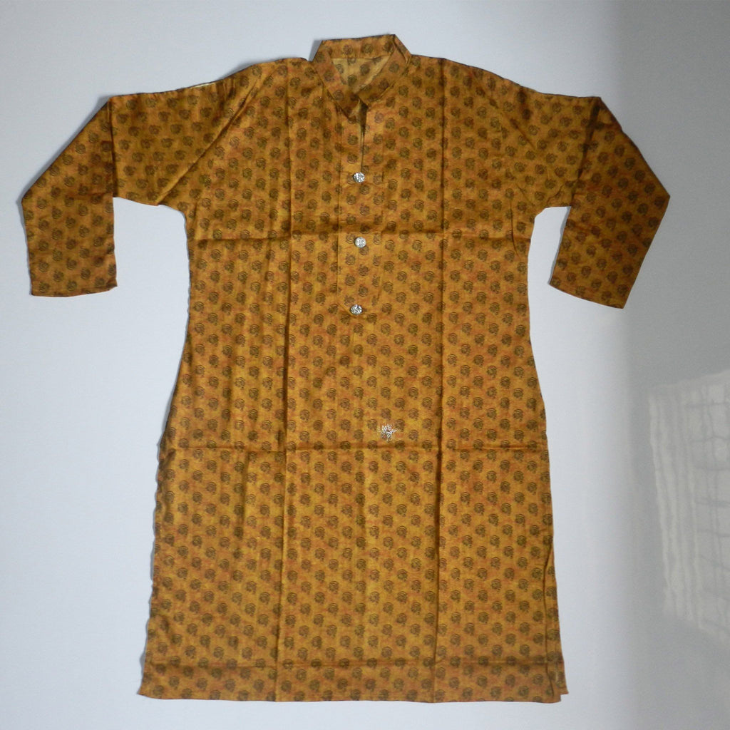 Ochre Color Lawn Printed Kurti - Hiffey