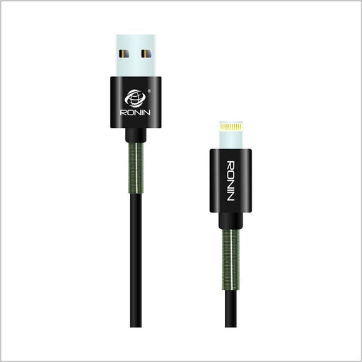 2 Meter Spring Data Cable - iPhone 2.1A - R-900 - Hiffey