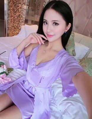 2 Piece Night Gown - Purple - Hiffey