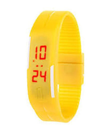 LED Sports Watch for Boys & Girls - Yellow