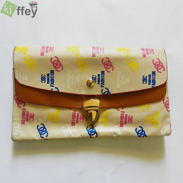 Light Brown Hand Clutch For Girl
