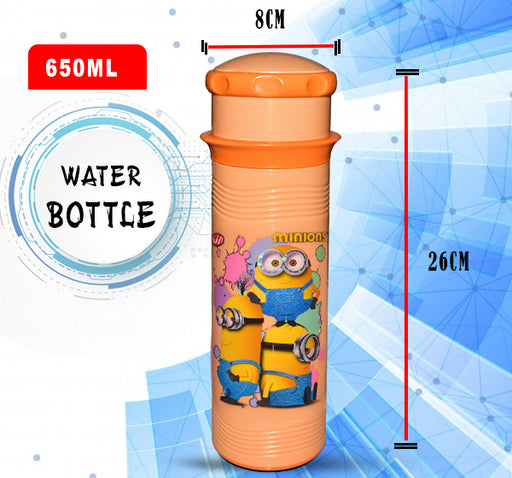 Minions Water Bottle For Kids - Orange - 650 ml - Hiffey