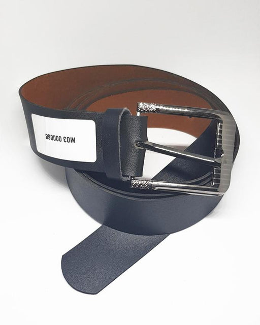 Formal Leather Belts Steel Line For Men - Black - Hiffey