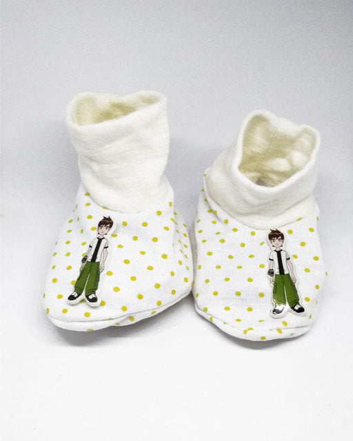 NewBorn Baby Ben10 Cotton Shoes - Hiffey