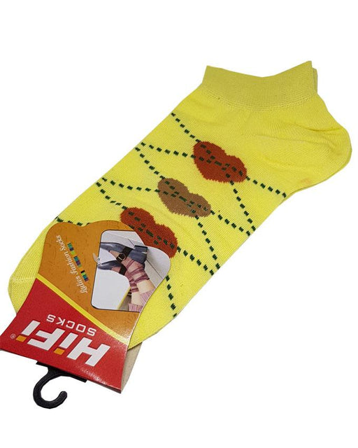 Comfortable Ladies Ankle Socks - Yellow - Hiffey