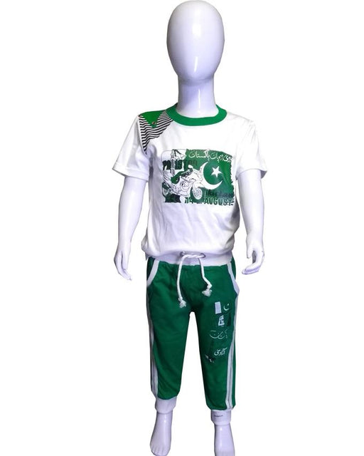 Jashan-e-Azadi Kids Cotton T-Shirts & Trouser - Hiffey