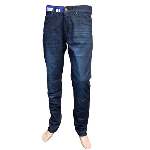 Branded Dark Stone Line Fit Jeans for Men - Hiffey