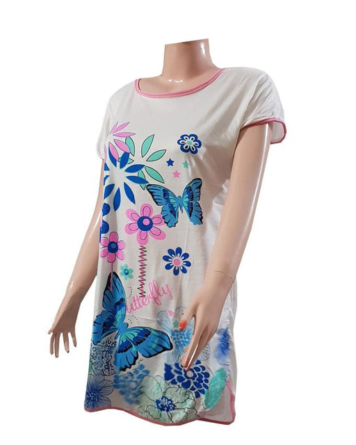 Ladies Casual Flowers Printed T-Shirt - Hiffey