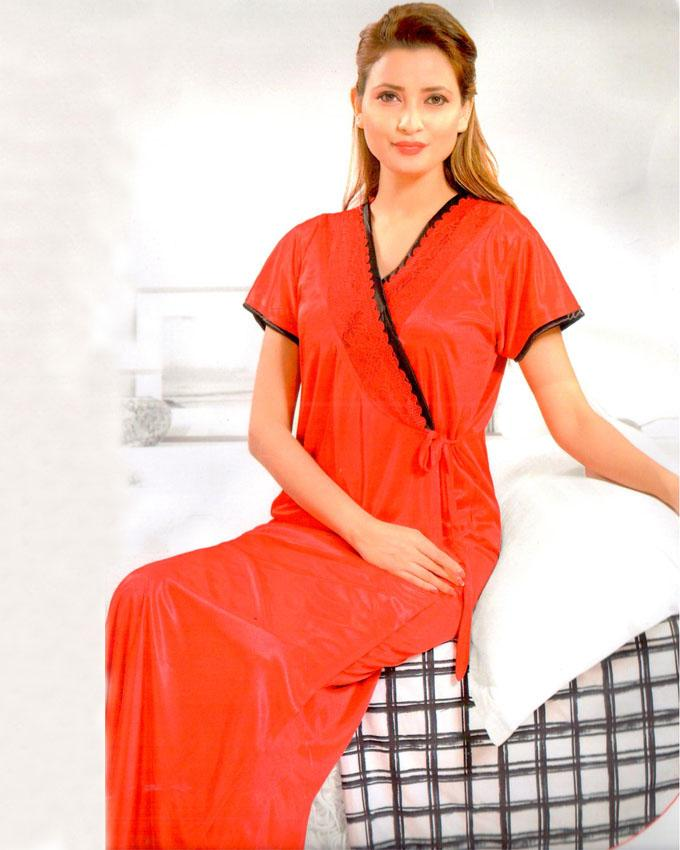 Bell Lingerie 2 Piece Night Gown Red - 2219C