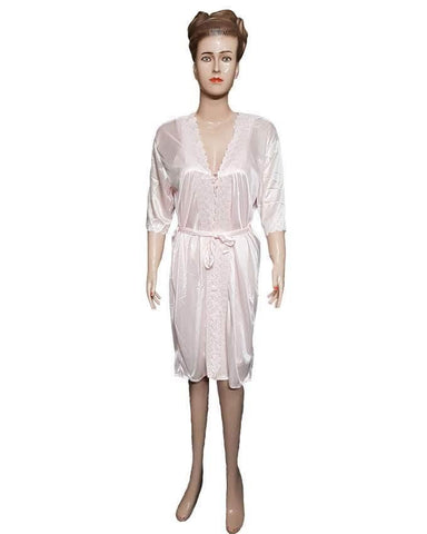 2 Piece Night Gown - Light Pink