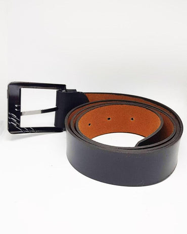 Formal Leather Belts For Kids - Black