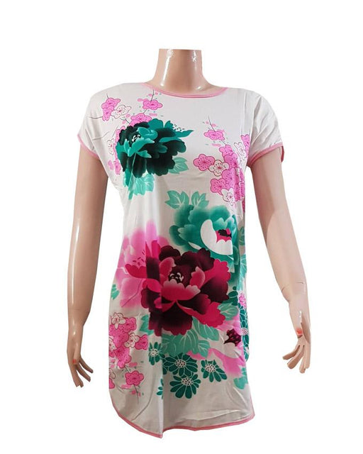 Ladies Casual Red Rose Printed T-Shirt - Hiffey