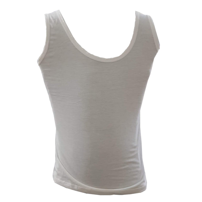 White Color Cotton Sleeveless Tank Top