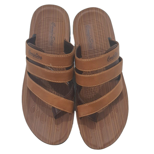 Men ComfoStep Chappal - Light Brown - Hiffey