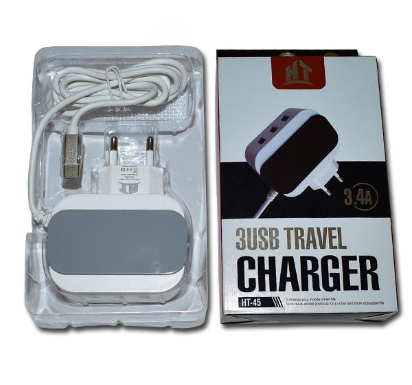 3 USB Travel Charger 3.4A HT-45
