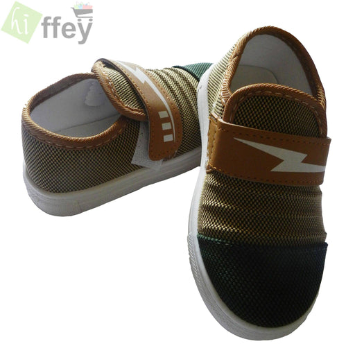 Brown and Green Casual Shoes for Boys - Hiffey