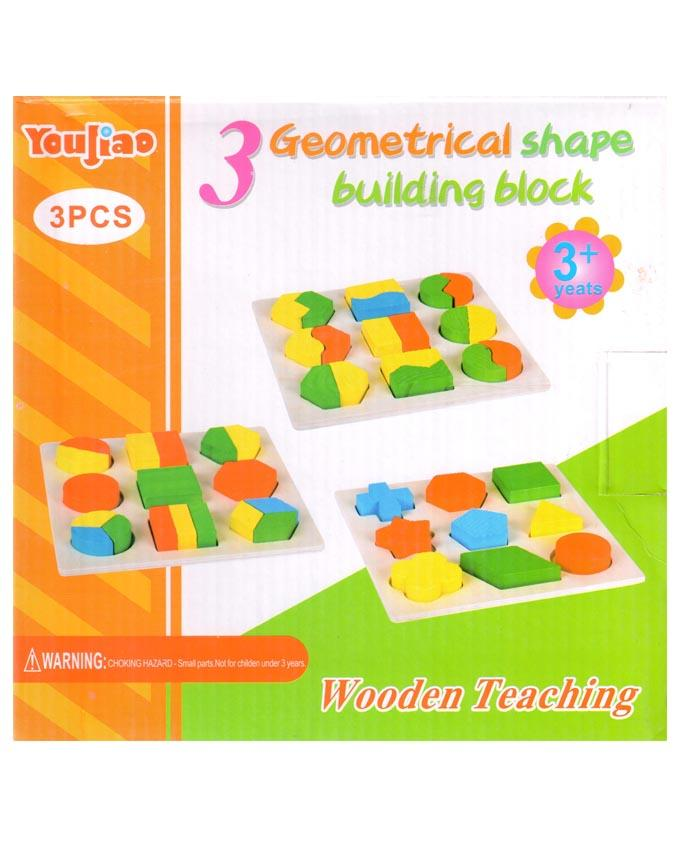 3 Geometrical Shape Building Block