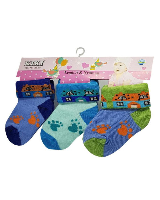 Baby Toddlers Colorful Socks - Pack of 3