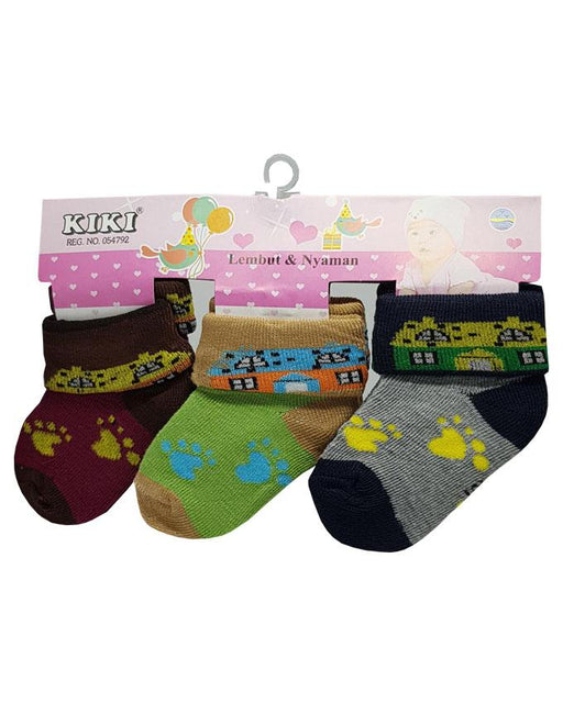 Baby Toddlers Colorful Socks - Pack of 3 - Hiffey