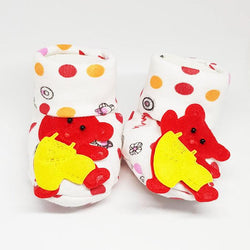 Newborn Baby Red Bear Cotton Shoes