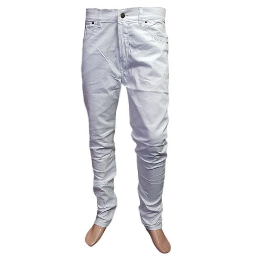 Branded White Jeans Slim Fit for Men - Hiffey