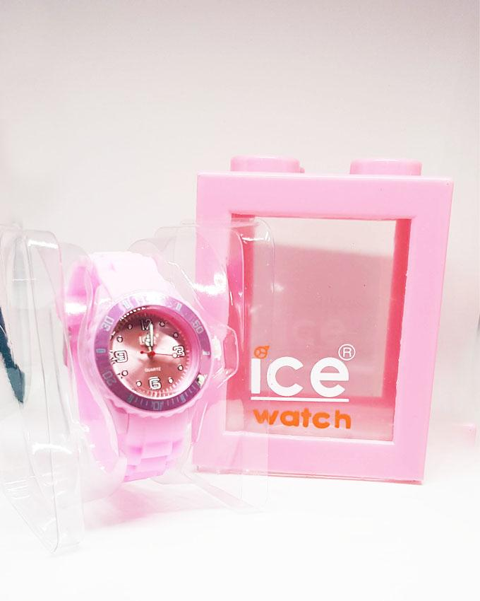 Baby Pink Silicon Mini Watch by ICE for Kids