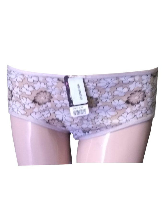 Full Flower Printed Girls Penties - Light Brown - Hiffey