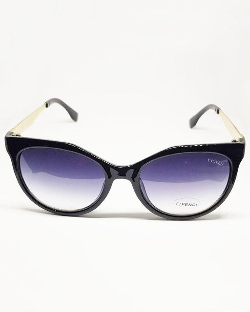 Fendi Black Circle Sunglasses - Hiffey