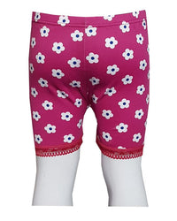 Light Maroon Flower With Lase Boxers for Kids