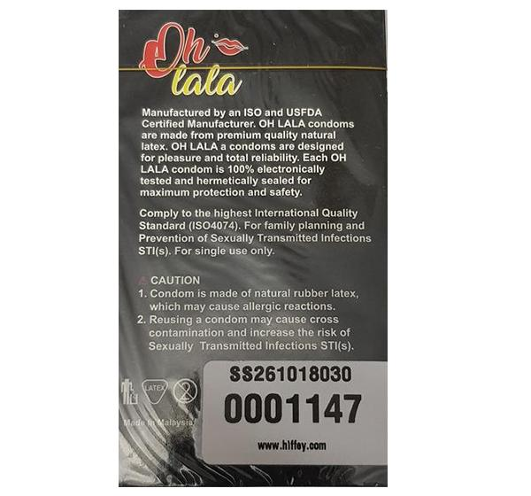 Oh Lala 5in1 Condoms - Pack of 12