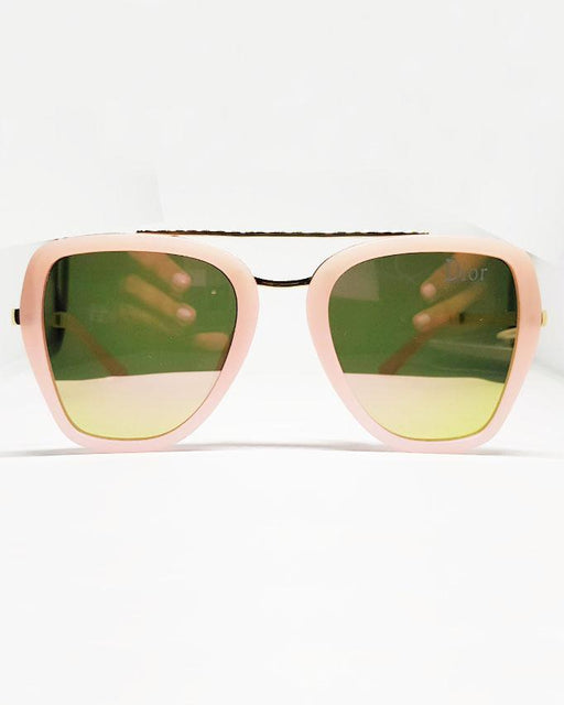 Dior Pink Frame Golden Sunglasses for Kids - Hiffey