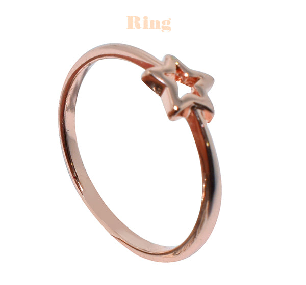 Star Ring For Women - Golden - Hiffey