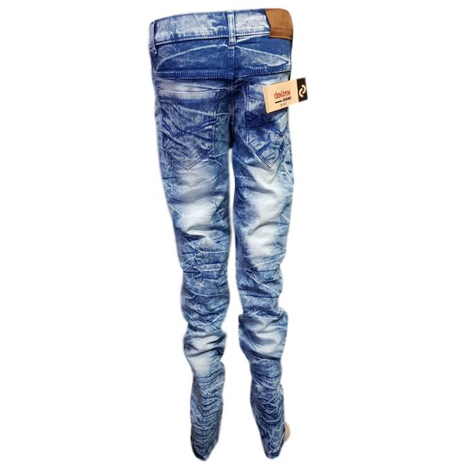 Blue Lit Faded Branded Jeans For Men