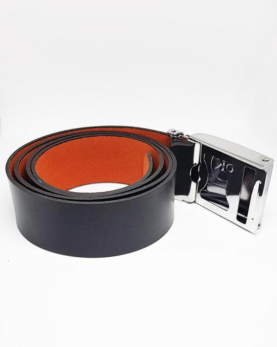 OK Clip Buckle Style Belt Leather For Men - Black - Hiffey