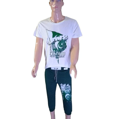 14th August Boys T-Shirt of Pakistan Homeland and Trouser