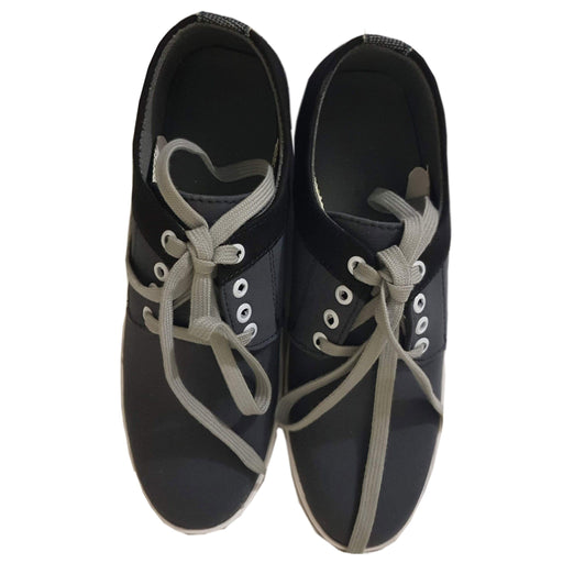 Black Strap Stylish Grey Sneaker For Men