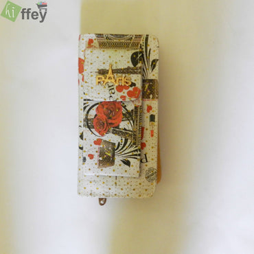 Heart printed Hand Clutch For Girl - Hiffey