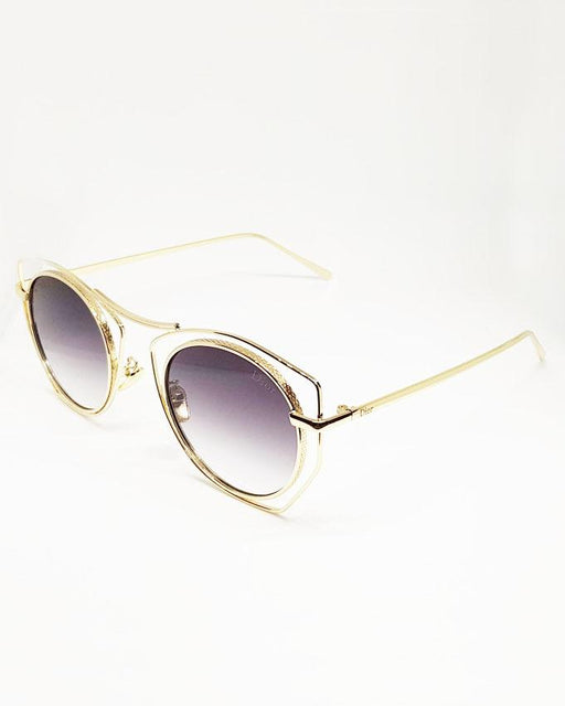 Dior Fashion Double Golden Framed Black Sunglasses - Hiffey
