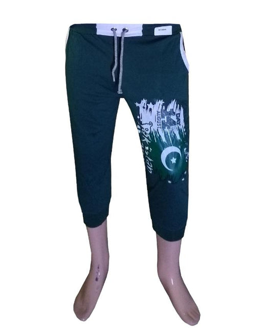 Printed Trouser For Pakistan Independence Day Printed Flag Green Color