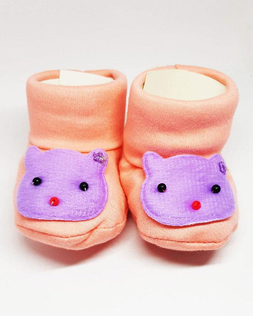 Newborn Baby Blue Kitty Cotton Shoes - Hiffey
