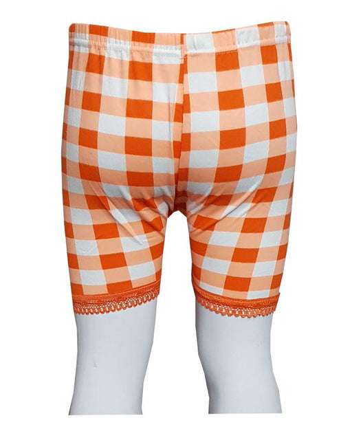 Orange Checks With Lase Boxers for Kids - Hiffey