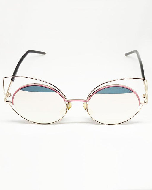 Marc Jacobs Pink Fashion Mirror Shade Sunglasses - Hiffey
