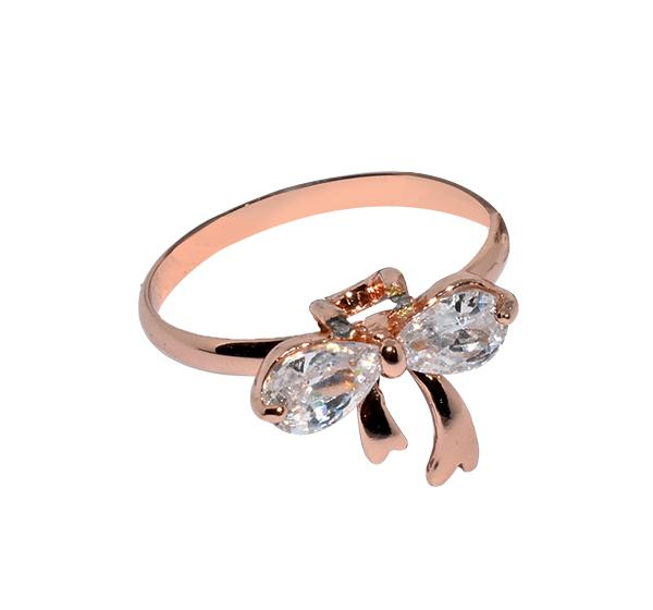 Bow Style Sterling Ring For Girls - Golden - Hiffey