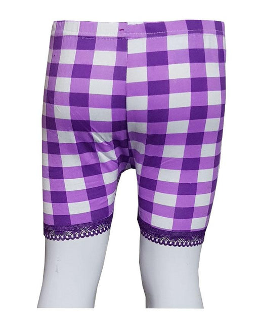 Purple Checks With Lase Boxers for Kids - Hiffey